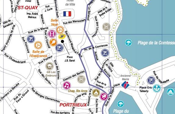 Le plan de la ville - Office du tourisme saint quay portrieux ...