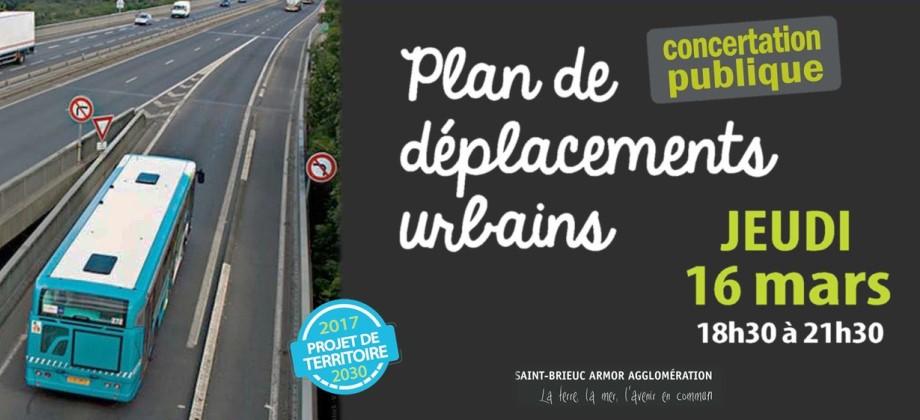 plan de déplacements urbains saint brieuc armor agglomération concertation publqiue mars 2017 SQPx